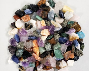 """Raw Crystal Chunks - 1"""" to 2"""" Assorted Crystals Bulk - Rough Natural Gemstones Mixed Lot Collection"""