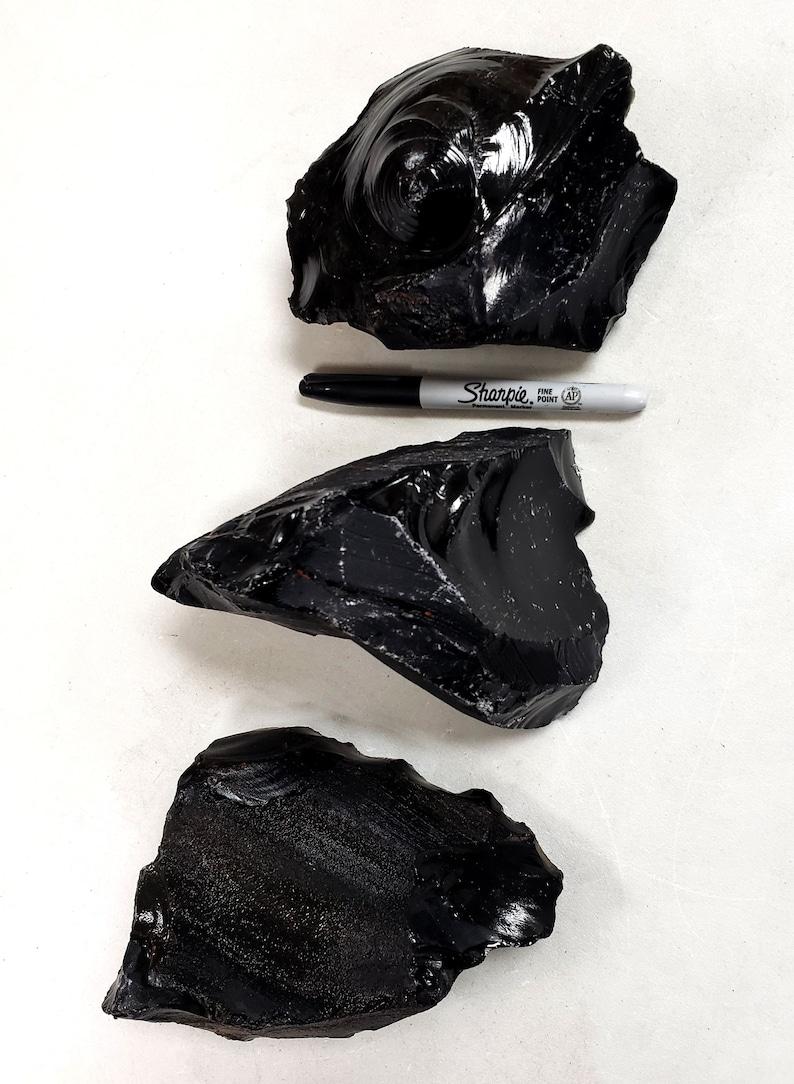 Crystal Healing /& Rock Decor Black Obsidian Stone Black Obsidian Crystal For Lapidary 1 LB to 6 LB Large Black Obsidian Chunk