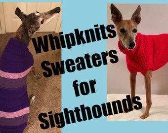 Fabulous Hand Knitted Dog Sweaters Scarves By Whipknitsdogsweaters