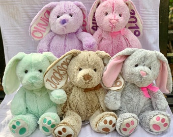 Personalized Easter Bunny Plush   Easter Basket Filler Gift   Easter  Bunnies   Custom Easter Gift   My First Easter   5 Color Choices 8abf48048
