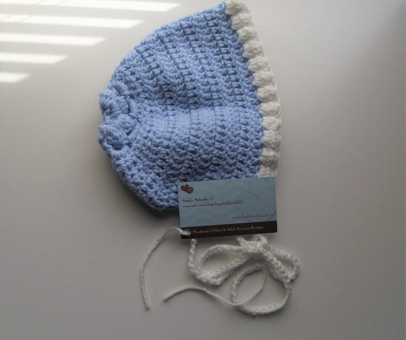 6544fa4349c Simply Adorable U Crochet Blue Baby Bonnet Baby Child