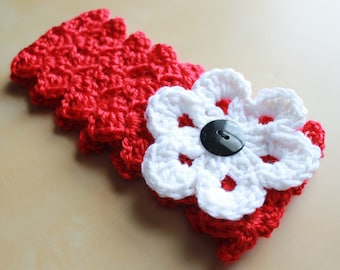 Simply Adorable U Crochet Womens Headband with Interchangeable Flower