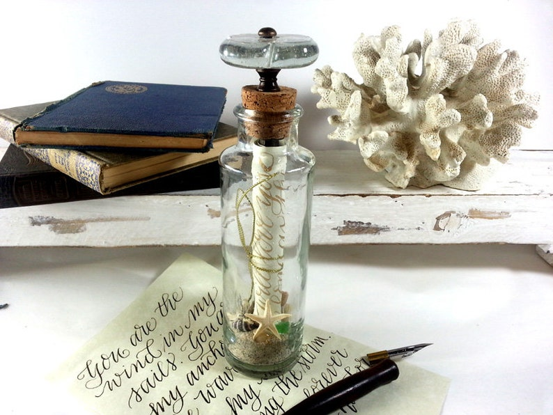 Message in a Bottle, Paper Anniversary, Relationship Gift, Proposal, Best  Friend, Unique Greeting, Romantic Love Note, Girlfriend, Thank You
