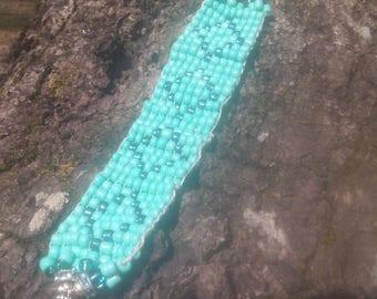 Beaded Turquoise Blue Bracelet