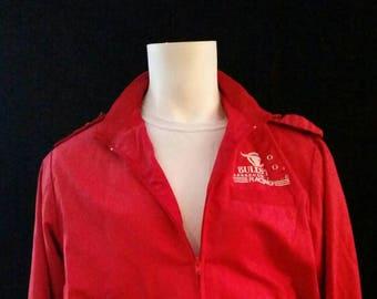 Vintage Red Bomber jacket. LARGE