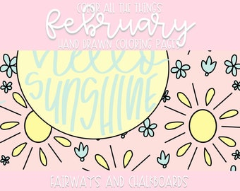 Color ALL The Things Volume ll: February Coloring Pages   Printable Activity   Coloring Book Pages   Coloring Page Set