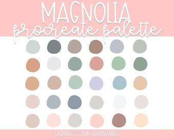 Procreate Magnolia Palette   Spring Color Palette   Procreate Colors   Procreate Palette