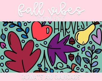 Color ALL The Things: Fall Vibes Coloring Pages   Printable Activity   Coloring Book Pages   Coloring Page Set