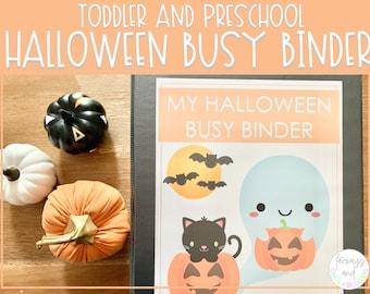 Halloween Busy Binder   Toddler and Preschool Activity Set   Busy Book   Activities