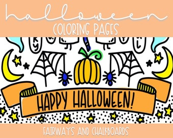 Color ALL The Things: Halloween Coloring Pages   Printable Activity   Coloring Book Pages   Coloring Page Set