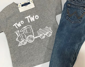 Two Two Train, Two Years Old, 2 Years Old, 2nd Birthday, Second Birthday, Trains, Train Birthday, Birthday Boy, Choo Choo Train, Party Shirt