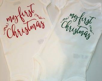 My First Christmas, Baby Christmas Bodysuit, My First Christmas Bodysuit, First Babies Christmas Bodysuit, Baby Boy, Baby Girl, Christmas