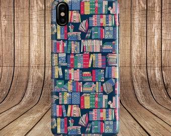 Iphone X Case BOOKSHELF 7 8 Plus Samsung S8 Note
