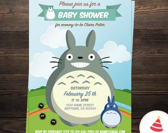 Totoro invitation Etsy