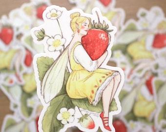 Strawberry Fairy Vinyl Sticker