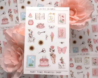 La Vie En Rose Sticker Sheet