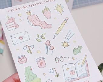 Favorite Things Sticker Sheet
