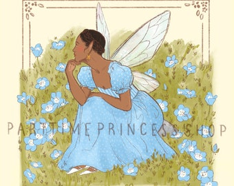 Speedwell Fairy Art Print