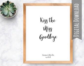Kiss the Miss Goodbye, Hen Do Keepsake,  Hens Night Supplies, Hens Night Games, Hen Do Ideas,  Hen Do UK, Hen Weekend, Hen Party Game