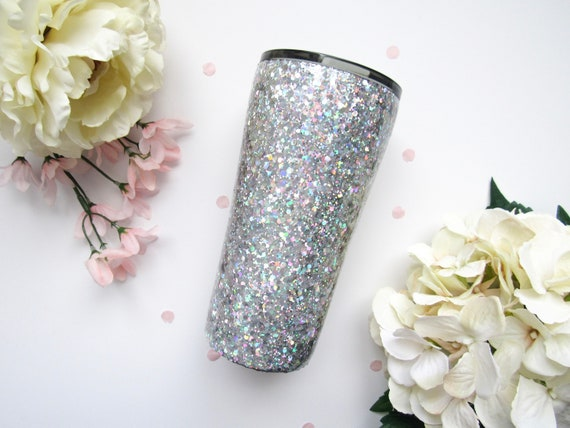 Holographic Silver Mixed Glitter Tumbler Glitter Tumbler