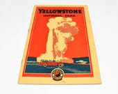 YELLOWSTONE Travel Guide By Northern Pacific Railroad ~ Yellowstone Travel Guide ~ Yellowstone Guide ~ Antique Travel Guides ~ Travel Guides