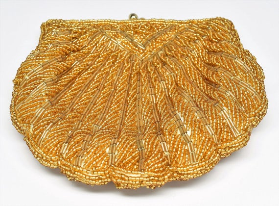 NEW LA REGALE Beaded Purse ~ La Regale Gold Beaded
