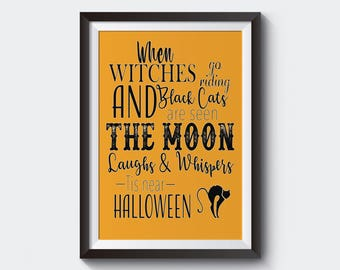 Halloween Decor, Halloween Printable, Halloween Sign, Halloween Wall Art, Halloween Print, Halloween Funny, Halloween sayings.