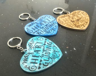 """KeyChain Kingdom Hearts-""""May your Heart be your guiding key"""""""