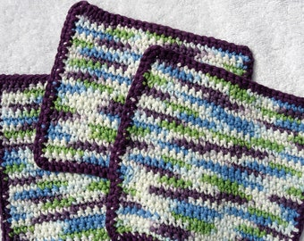 Colorful Crocheted Dishcloths