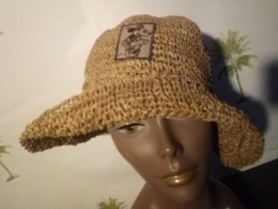 Vintage sexy Mickey Mini Mouse floppy straw hat su