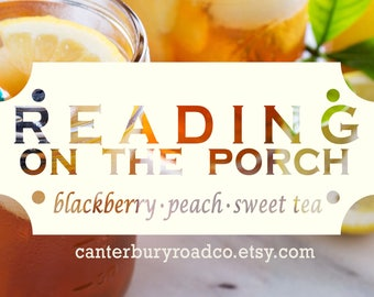 Soy Candles | Reading On The Porch | Bookish Scent | Summer Reading | Book Candle | Book Lover Gift | Bookish Gift | Canterbury Road Co