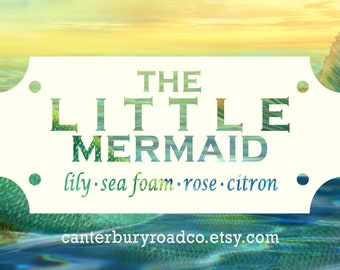 The Little Mermaid | Fairy Tale Candle | Soy Candle |  Mermaids | Book Lover Gift | Literary Candle | Bookish Candle | CanterburyRoadCo