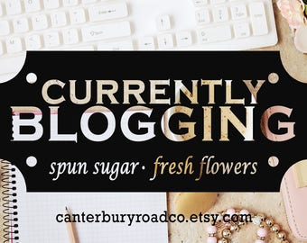Currently Blogging | Soy Candle | Writing Candle | Bloggers | Book Lover Gift | Literary Candle | Bookish Candle | CanterburyRoadCo