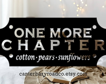 One More Chapter | Book Genre Candle | Soy Candle | Book Lover Gift | Literary Candle | Bookish Candle | Romance | CanterburyRoadCo