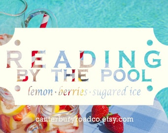 Reading By The Pool | Soy Candles | Bookish Scent | Beach Reads | Book Merch | Book Lover Gift | Bookish Gift | Canterbury Road Co