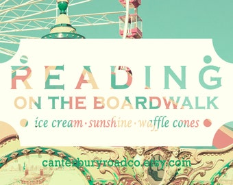 Reading On The Boardwalk | Soy Candle | Bookish Scent | Summer Reading | Book Candle | Book Lover Gift | Bookish Gift | Canterbury Road Co