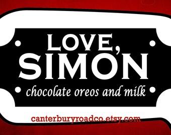 Love Simon | Fandom Candle | Soy Candle | Becky Albertalli | Simon Vs | Book Lover Gift | Literary| Bookish Candle | CanterburyRoadCo