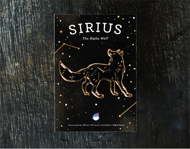 Sirius: The Alpha Wolf Constellation Enamel Pin