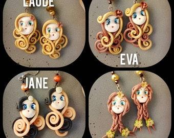 Face earrings