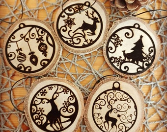 Set 5 Christmas decorations