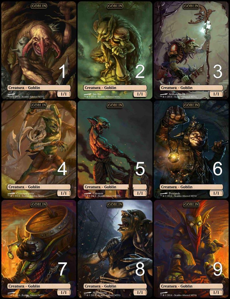 flip card NM//MMagic Game Night   Magic MTG M19 Goblin //// Zombie Token