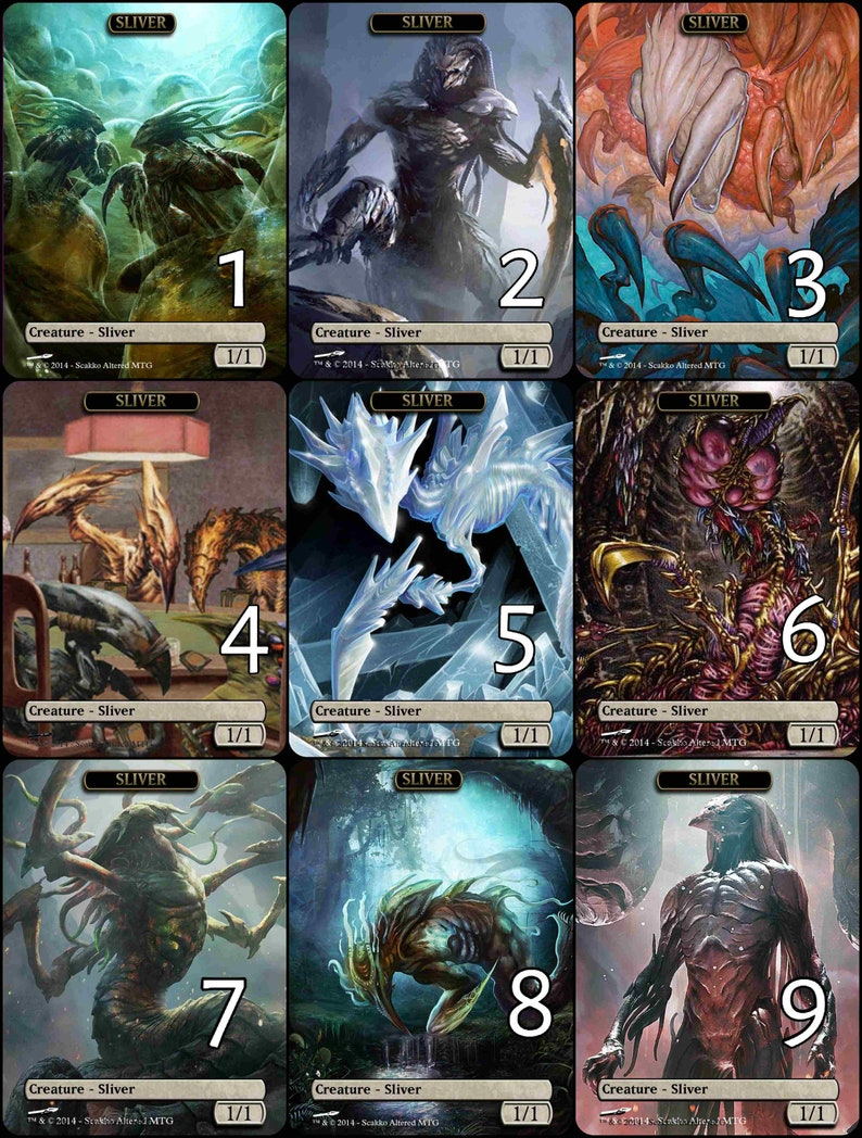 photo about Printable Mtg Tokens referred to as MtG Sliver 1/1 Token Preference Artwork // Selected the Artwork! - For EDH, Commander, Dice Draft and Everyday MtG Participant
