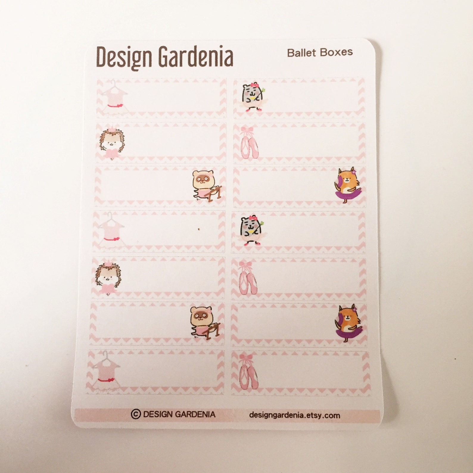 ballet boxes stickers • ballerina • tutu • designgardenia • leotard • pointe shoes • barre • exercise • practice • class • class