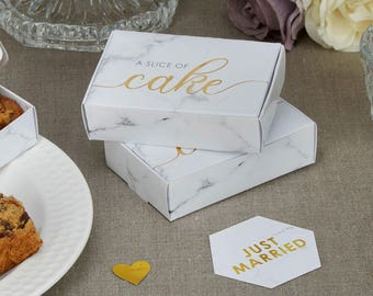 scripted marble cake boxes weddings christening baby shower hen partybridal shower