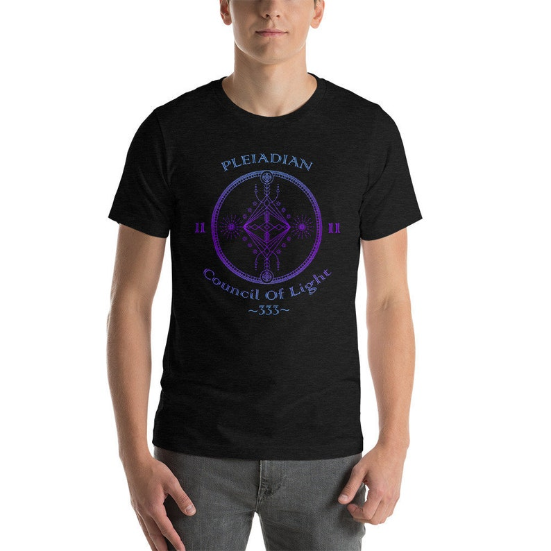 Pleiadian Council Of Light 333 1111 Alien Galaxy Starseed UFO Short-Sleeve  Unisex T-Shirt