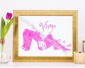 Virgo Virgin Horoscope Glicée Print S-2 Picture Baby Boy Girl Mother Father Nursery Bedroom Design Decor