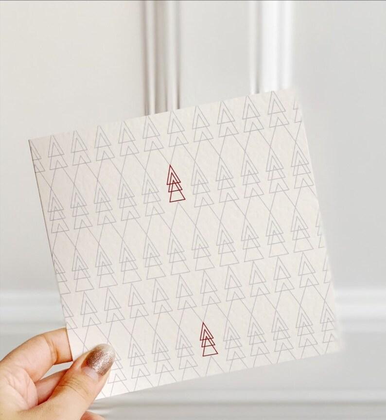 Scandi Christmas Tree Drawing.Scandi Christmas Tree Card Xmas Card Christmas Greetings Cards Contemporary Christmas Card Geometric Christmas Cards Seasons Greetings