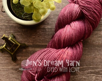 Hand dyed speckled yarn