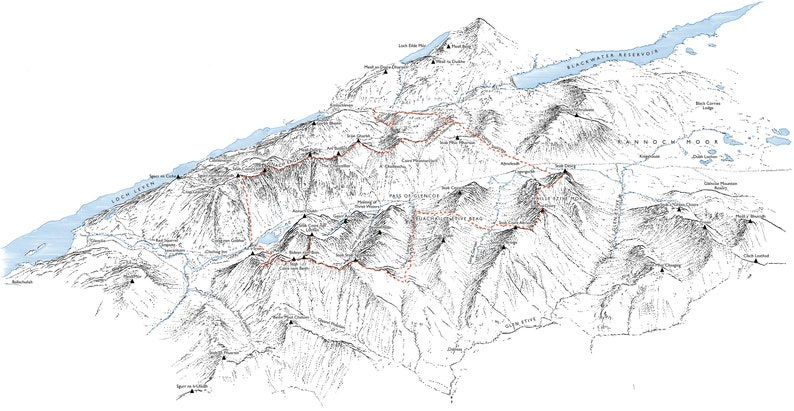 Glen Coe Skyline detailing the race and the Munros route. image 0