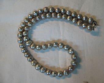 S 26g Scarce TAHITI's GREY PEARL Necklace